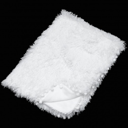 White Deluxe Super Soft Fluffy Pom Pom Baby Wrap