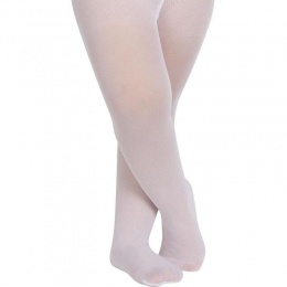 Girls White 30 Denier Tights by Ysabel Mora