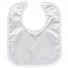 White Satin Plain Velcro Bib