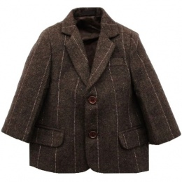 Boys Brown Tweed Check Jacket