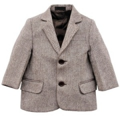 Boys Brown Tweed Herringbone Jacket